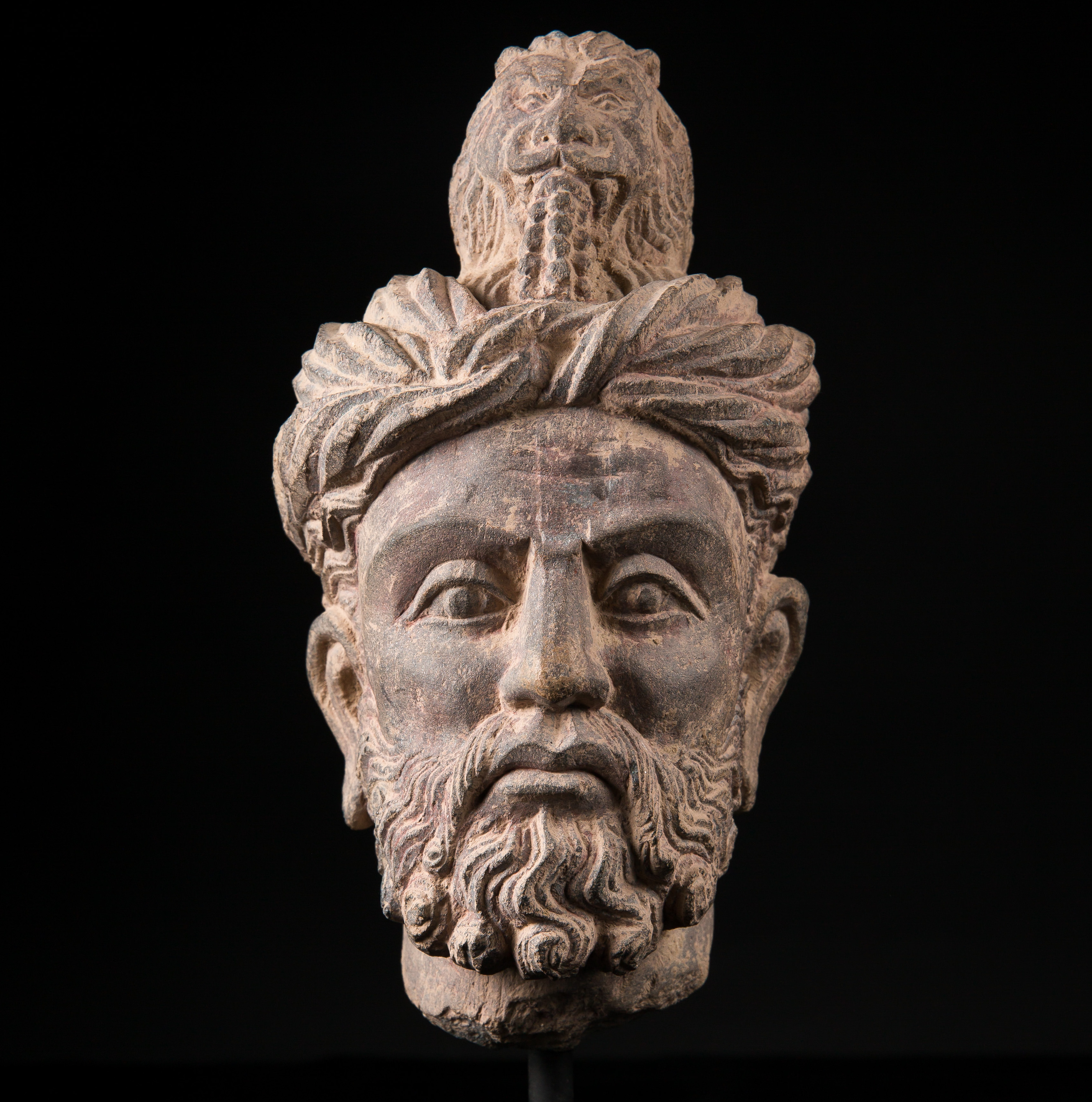 Photo ofGANDHARA RARE HEAD OF A MAN WITH LION