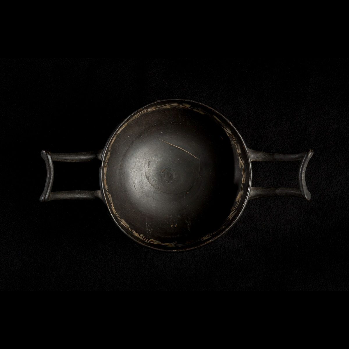 Photo of APULIAN BLACK BOWL WITH TWO HANDLES