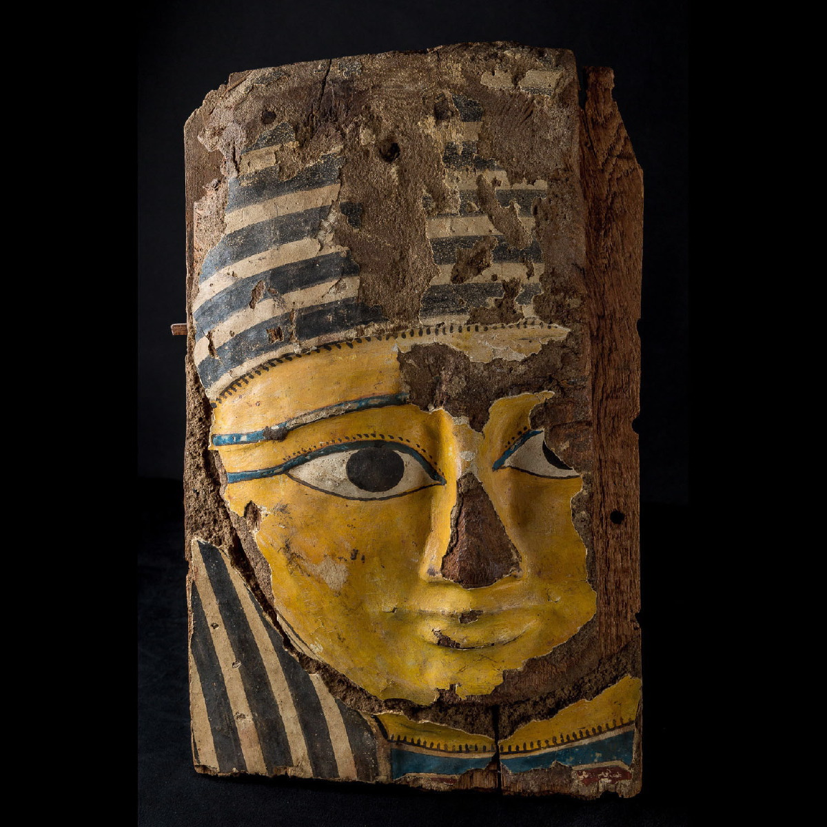 Photo ofEGYPTIAN WOODEN MASK OF A SARCOPHAGUS