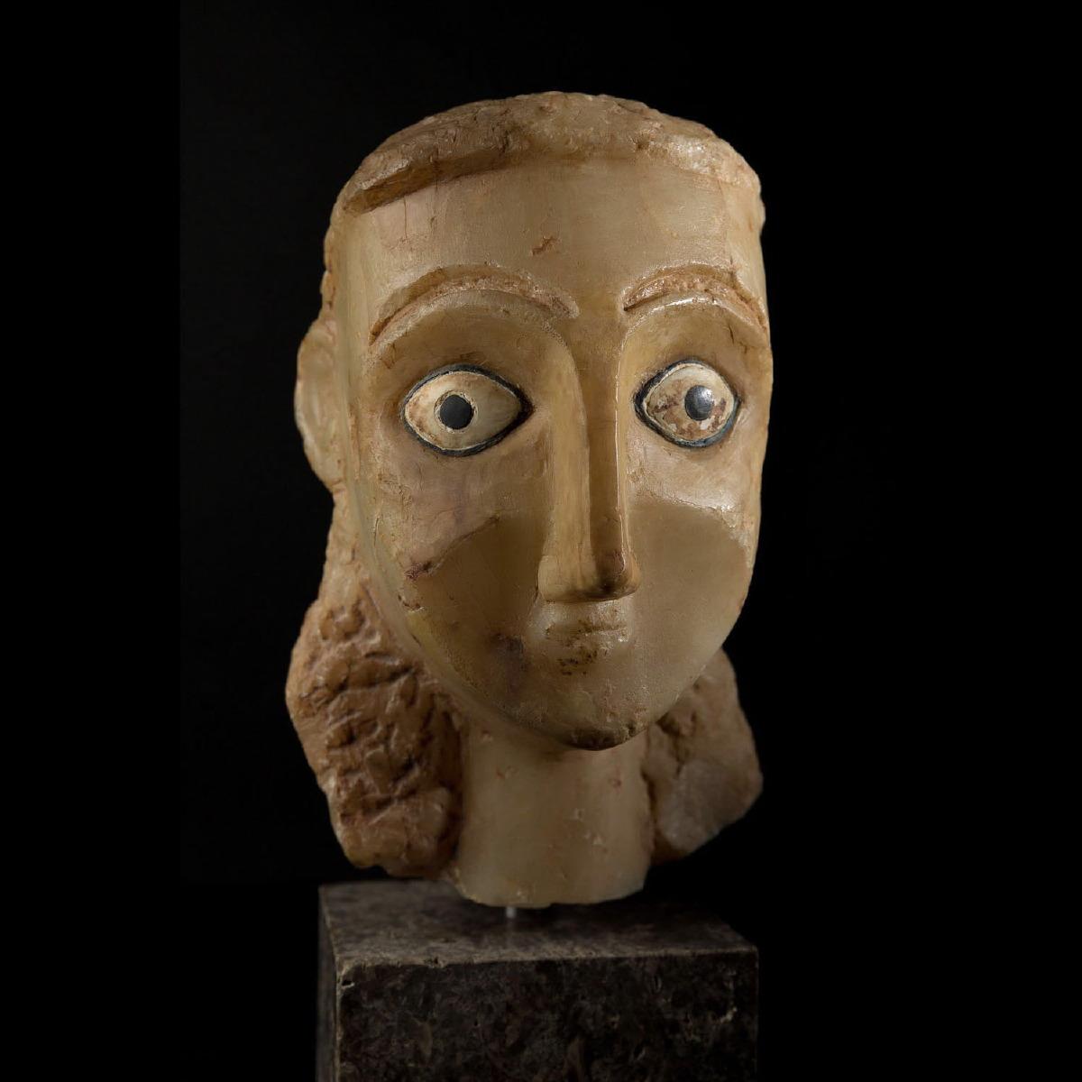 Photo of ALABASTER HEAD FROM SABA KINGDOM