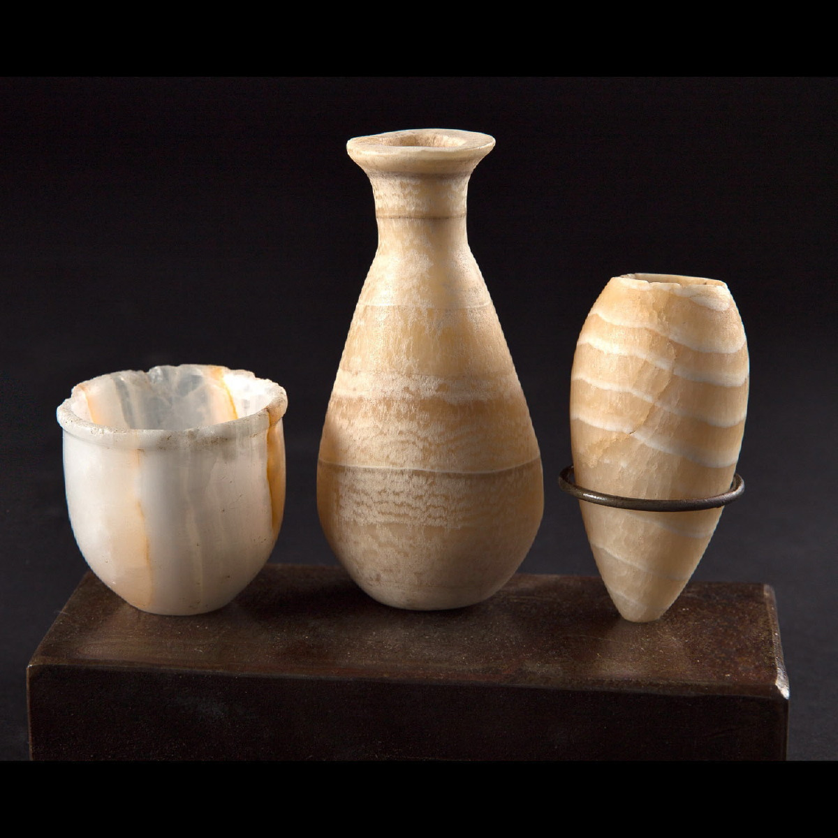 Photo ofEGYPTIAN RITUAL VASES IN  ALABASTER