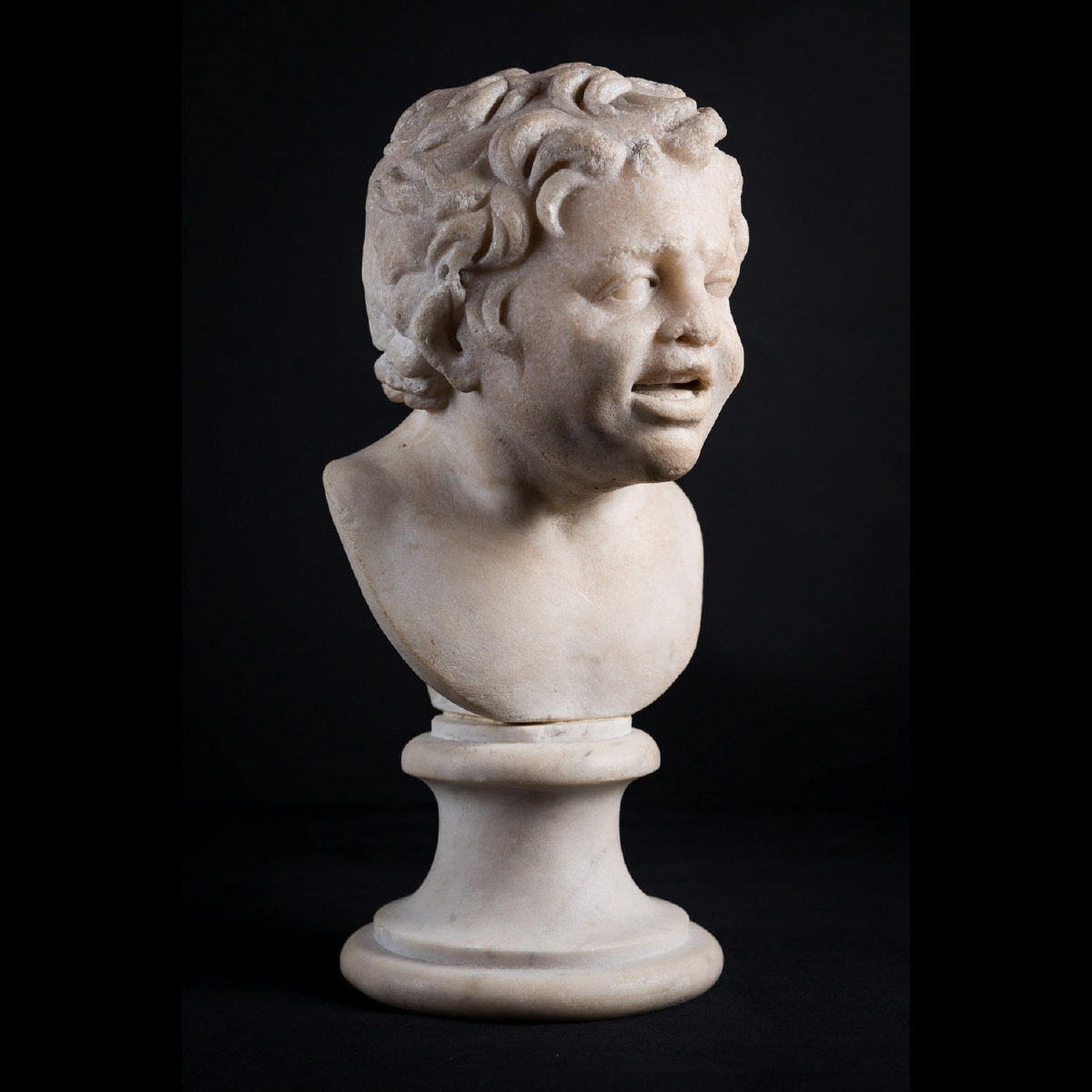 Photo ofROMAN MARBLE HEAD OF A SATYR