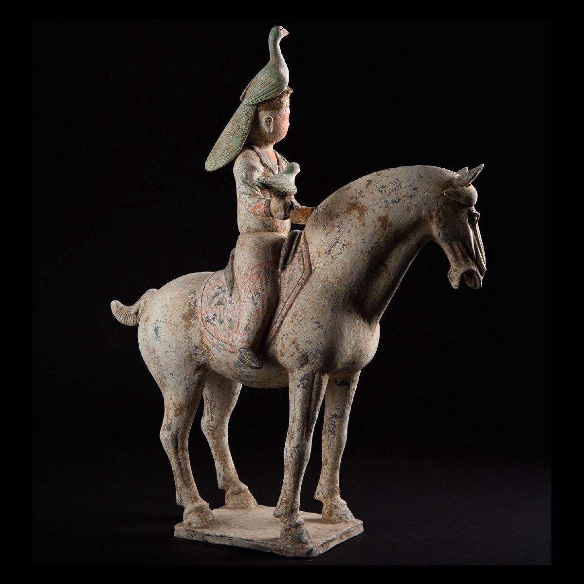Photo of TANG OPERA SINGER ON HORSEBACK