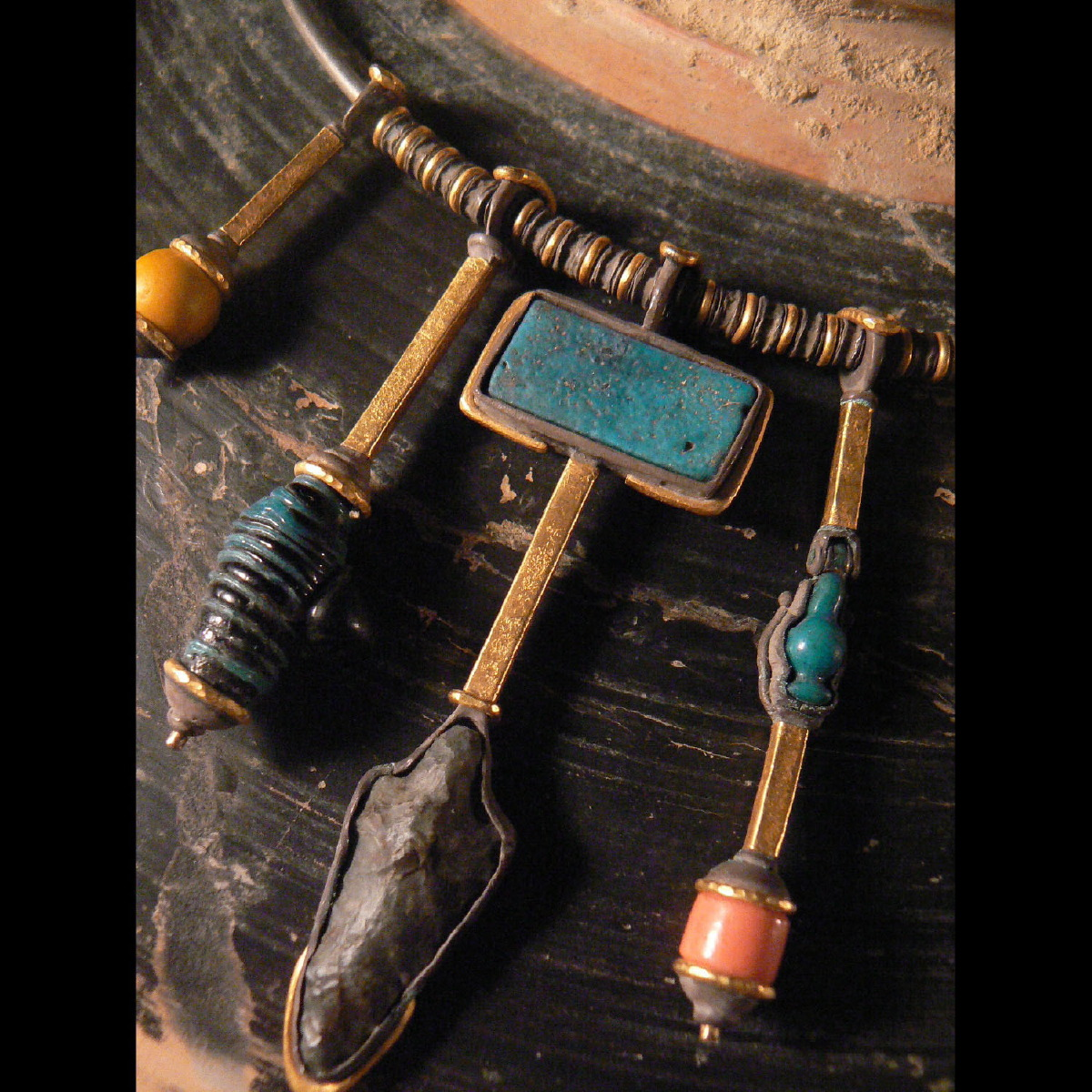 Photo of NECKLACE WITH AMULETS ANCIENT EGYPT