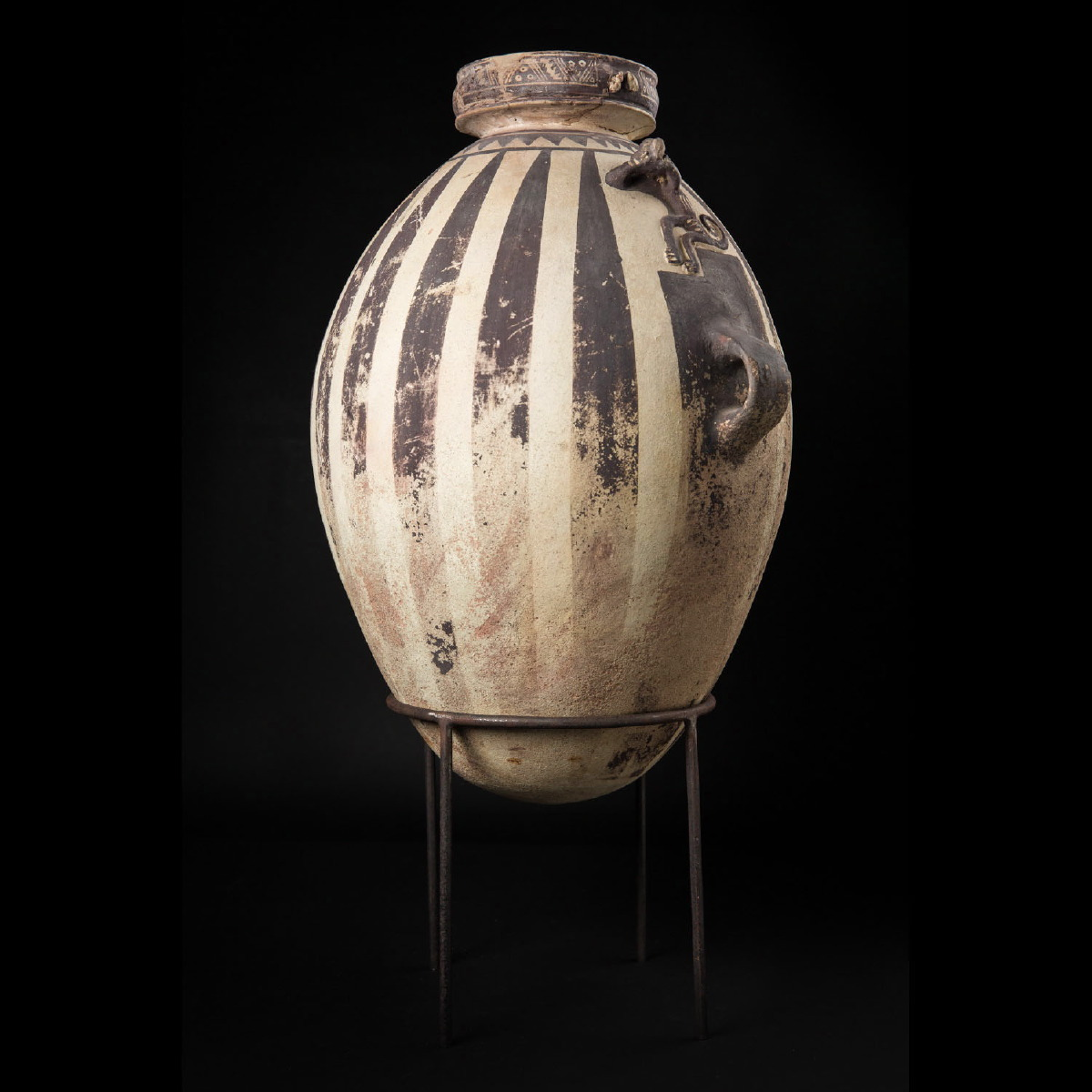"Photo of CHANCAY VASE ""BLACK AND WHITE"""