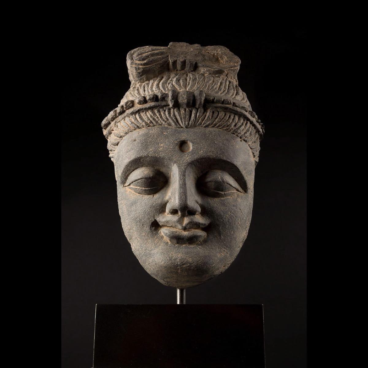 Photo ofGRECO-BUDDHIST HEAD OF A BODHISATTVA