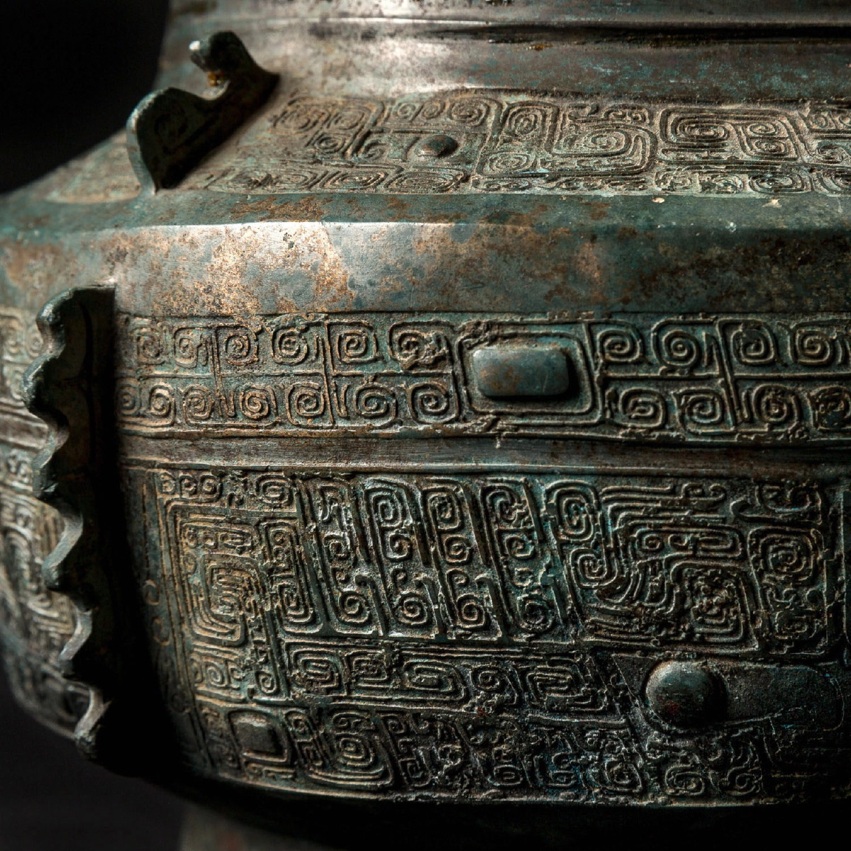 Photo of RARE VASE ARCHAÏQUE CHINOIS EN BRONZE ARGENTÉ