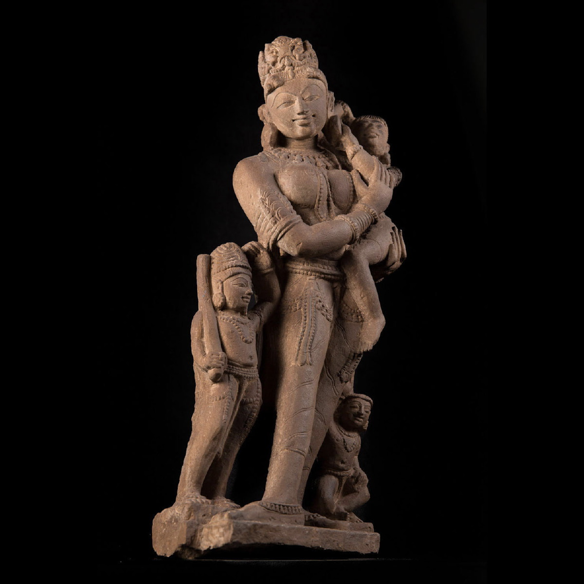 Photo ofPARVATI GODDESS WITH HIS CHILDREN - MEDIEVAL INDIA