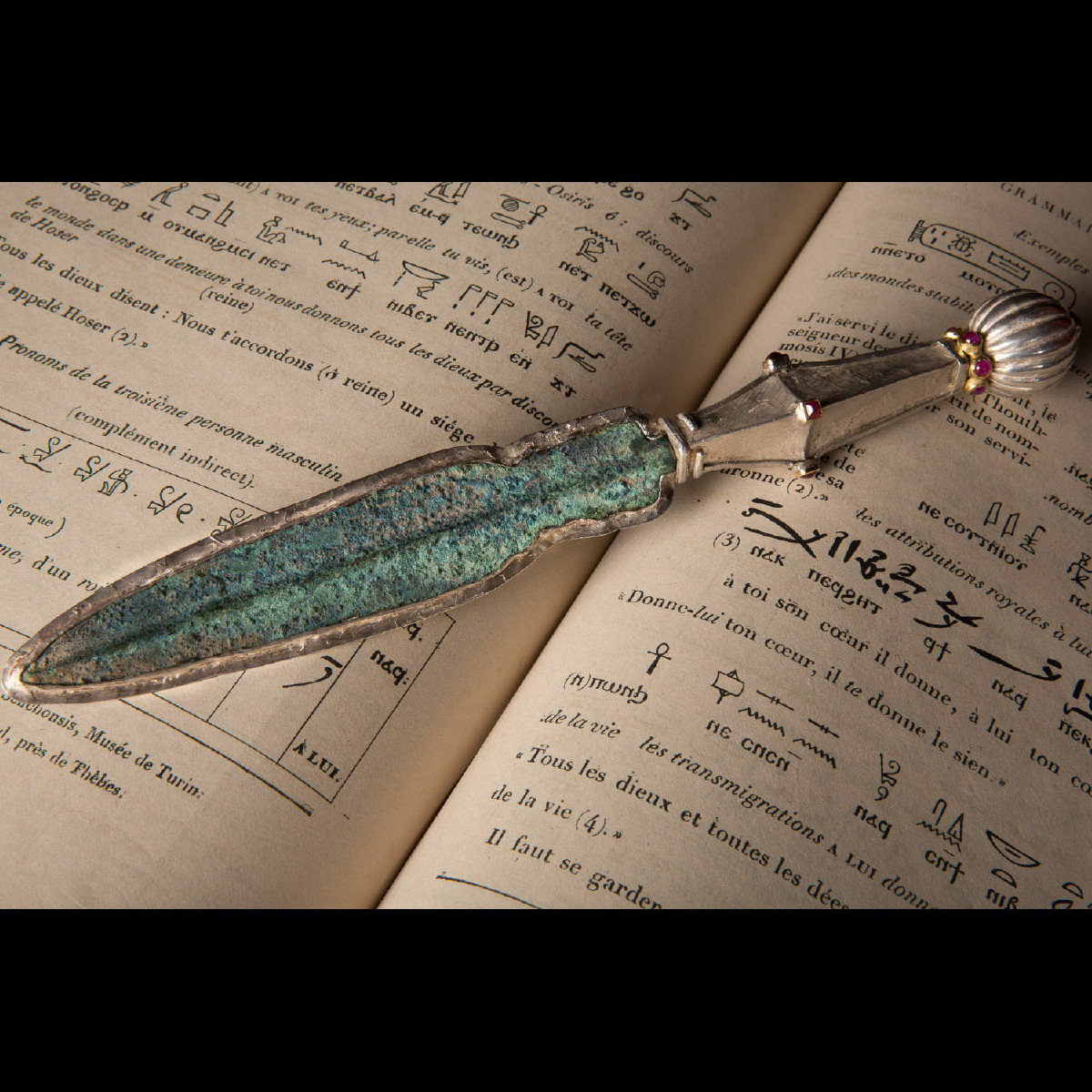 Photo ofLETTER OPENER WITH ANCIENT LURISTAN DAGGER
