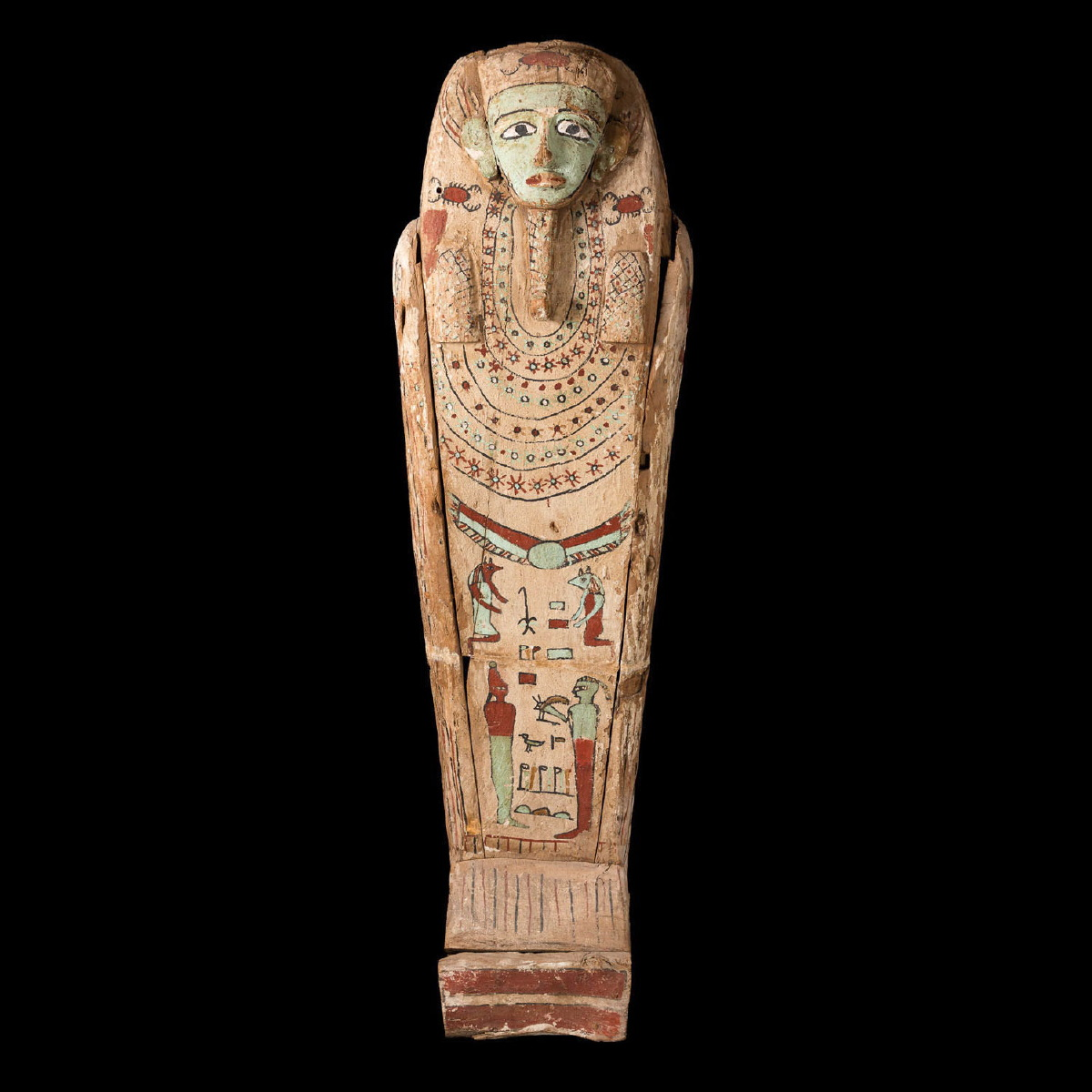 Photo ofPAINTED WOOD SARCOPHAGUS