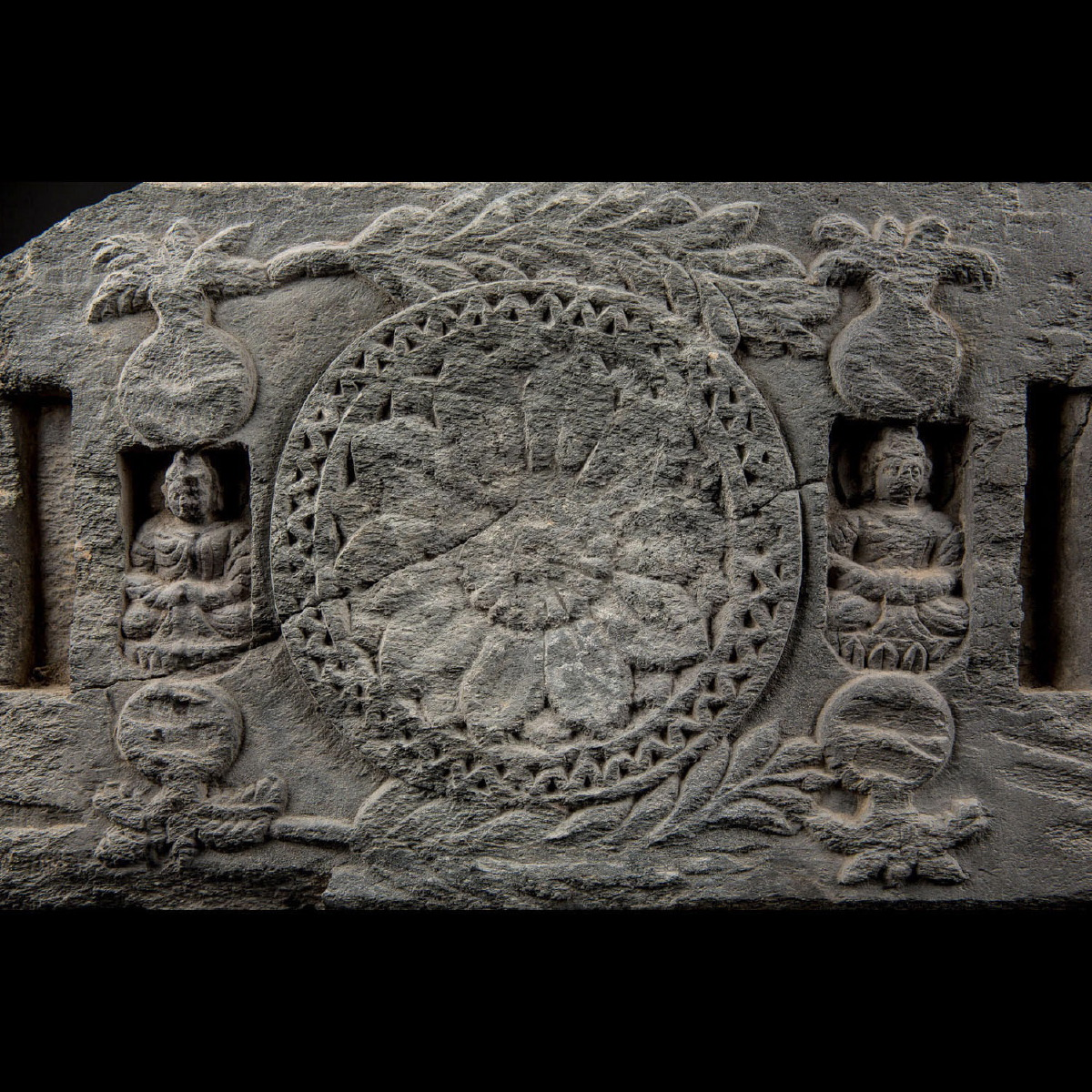 Photo of LOW RELIEF GRECO BUDDHIST WITH DHARMA WHEEL