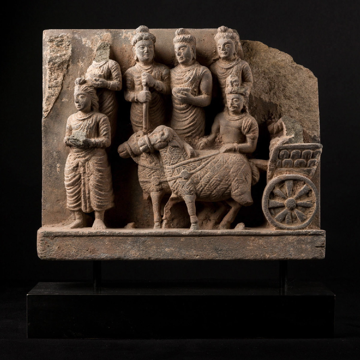 Photo ofGRECO BUDDHIST STELE OF THE PRINCE SAKYAMUNI'S CHARIOT