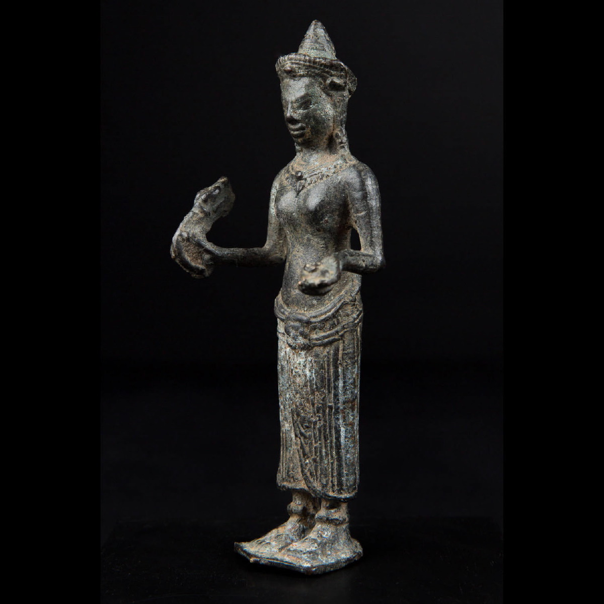 Photo of KHMER BRONZE OF THE GODDESS UMA WITH TANTRIC ATTRIBUTES