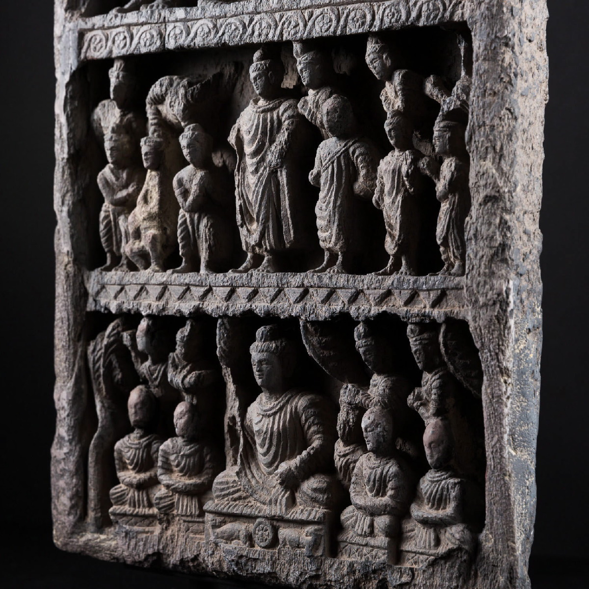 Photo of RARE STELE ILLUSTRATING THE LIFE OF BUDDHA