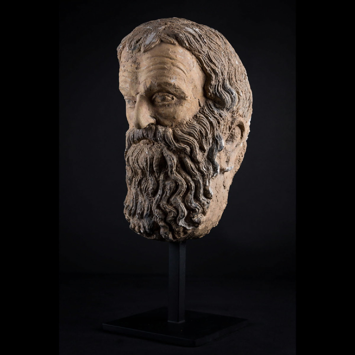 Photo of GREEK HEAD OF A PHILOSOPHER IN STUCCO
