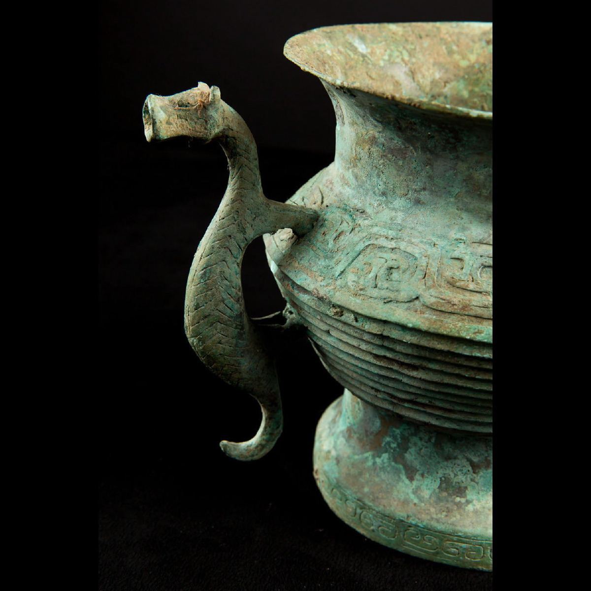 Photo ofCHINESE BRONZE VESSEL WITH CHIMERIC ANIMAL
