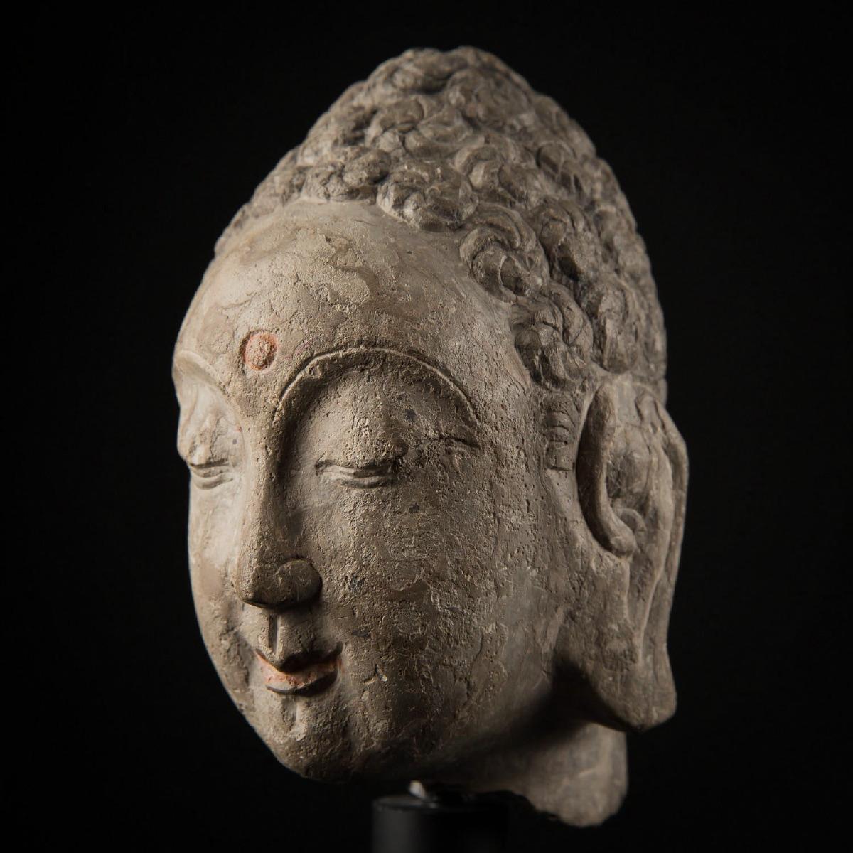 Photo of SUI DYNASTY STONE HEAD OF BUDDHA