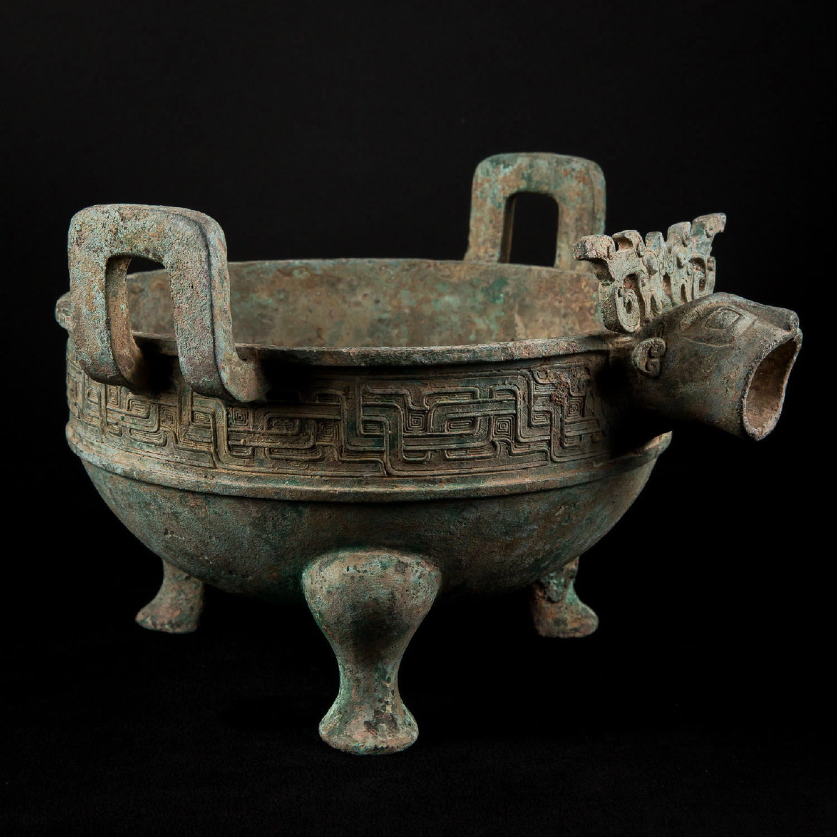 Photo of RARE BRONZE VESSEL WITH TAOTIE FROM WEI DYNASTY