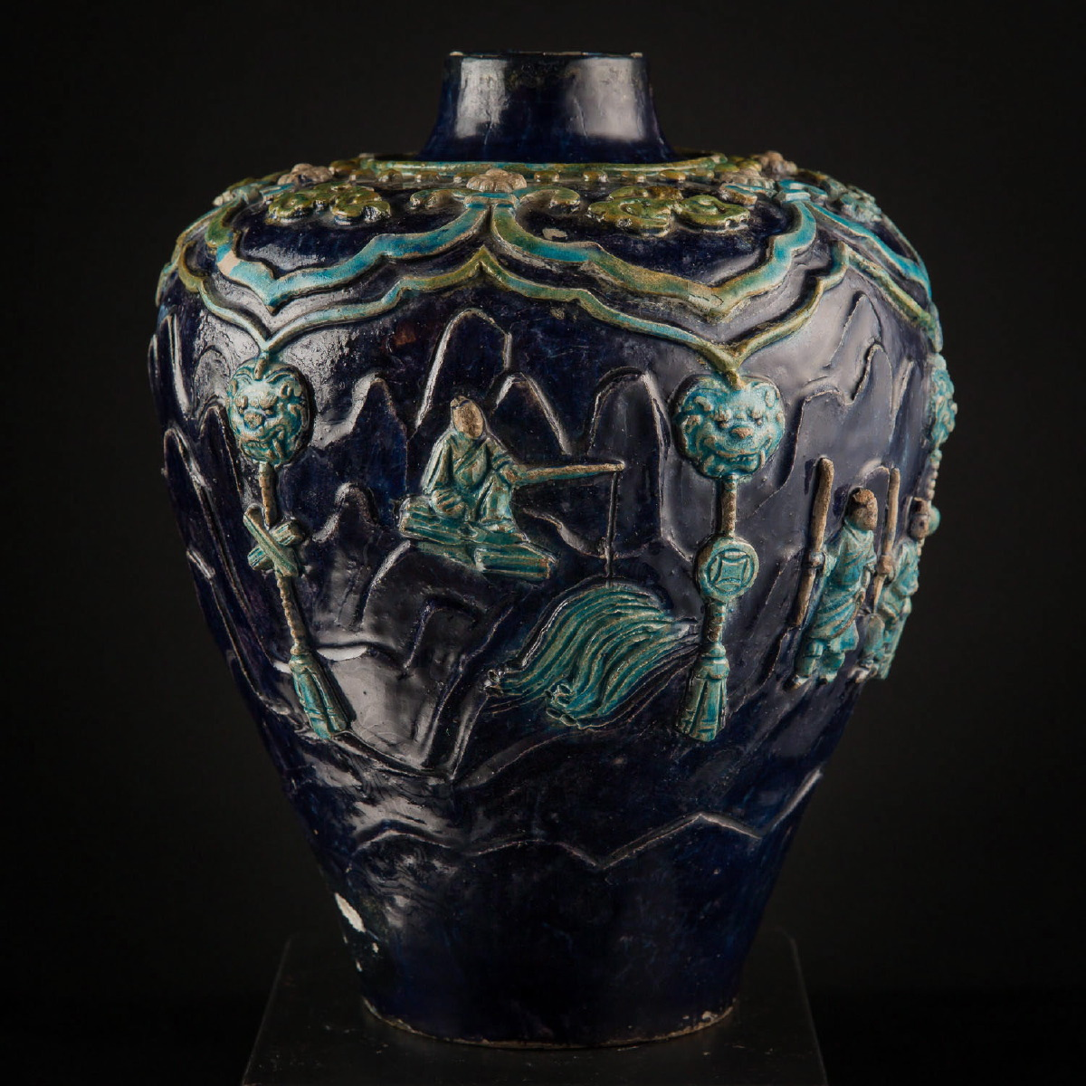 Photo of PORCELAIN FAHUA VASE FROM ROCKEFELLER COLLECTION
