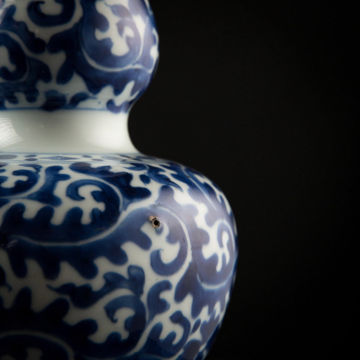 Photo of DOUBLE WHITE AND BLUE GOURD FROM METROPOLITAN MUSEUM