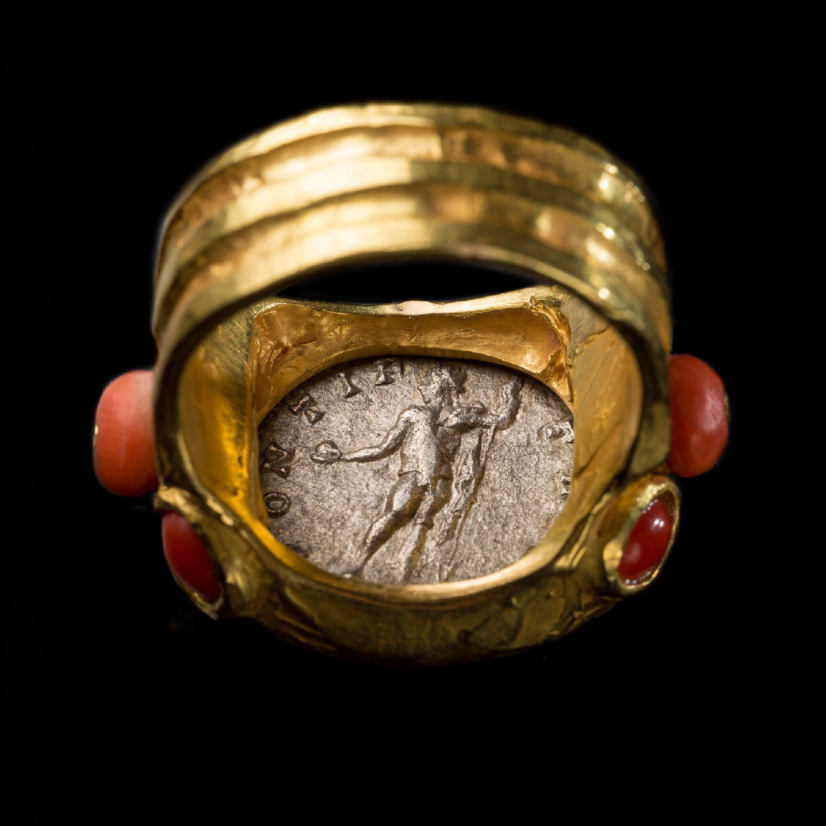 Photo of RING WITH SILVER COIN OF ANTONINUS PIUS