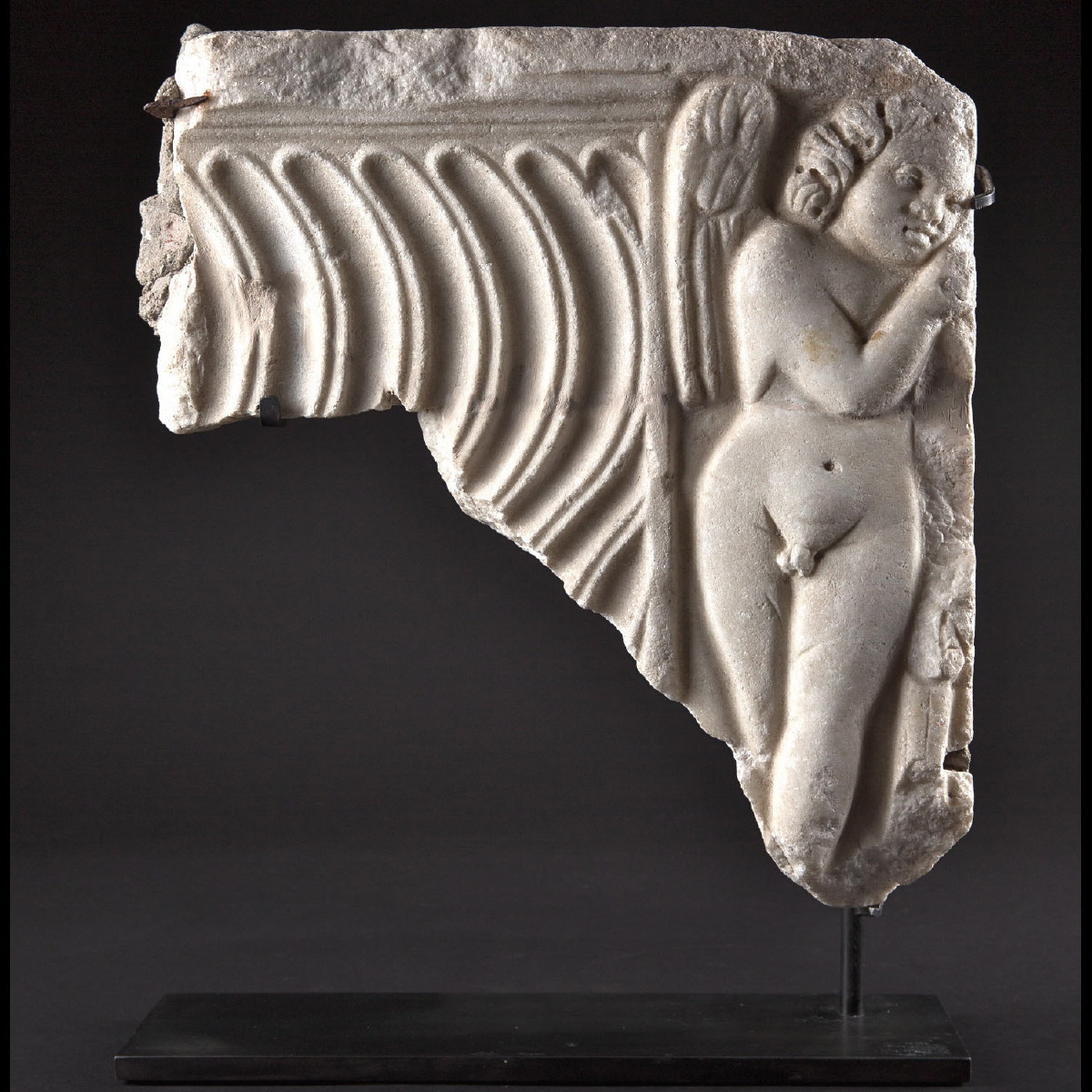 Photo ofCUPID ON ROMAN MARBLE SARCOPHAGUS