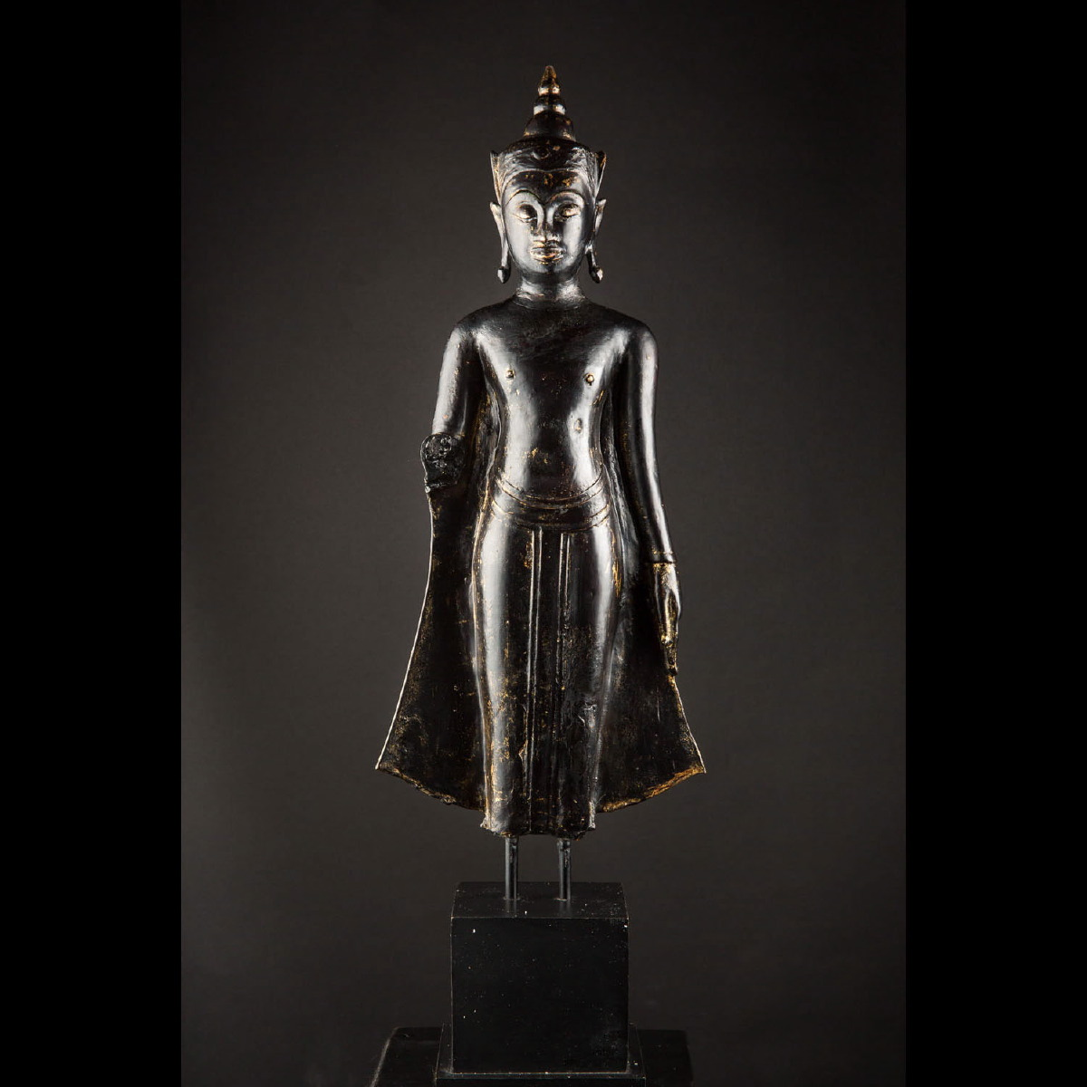 Photo ofBUDDHA IN BLACK BRONZE FROM AYUTTHAYA