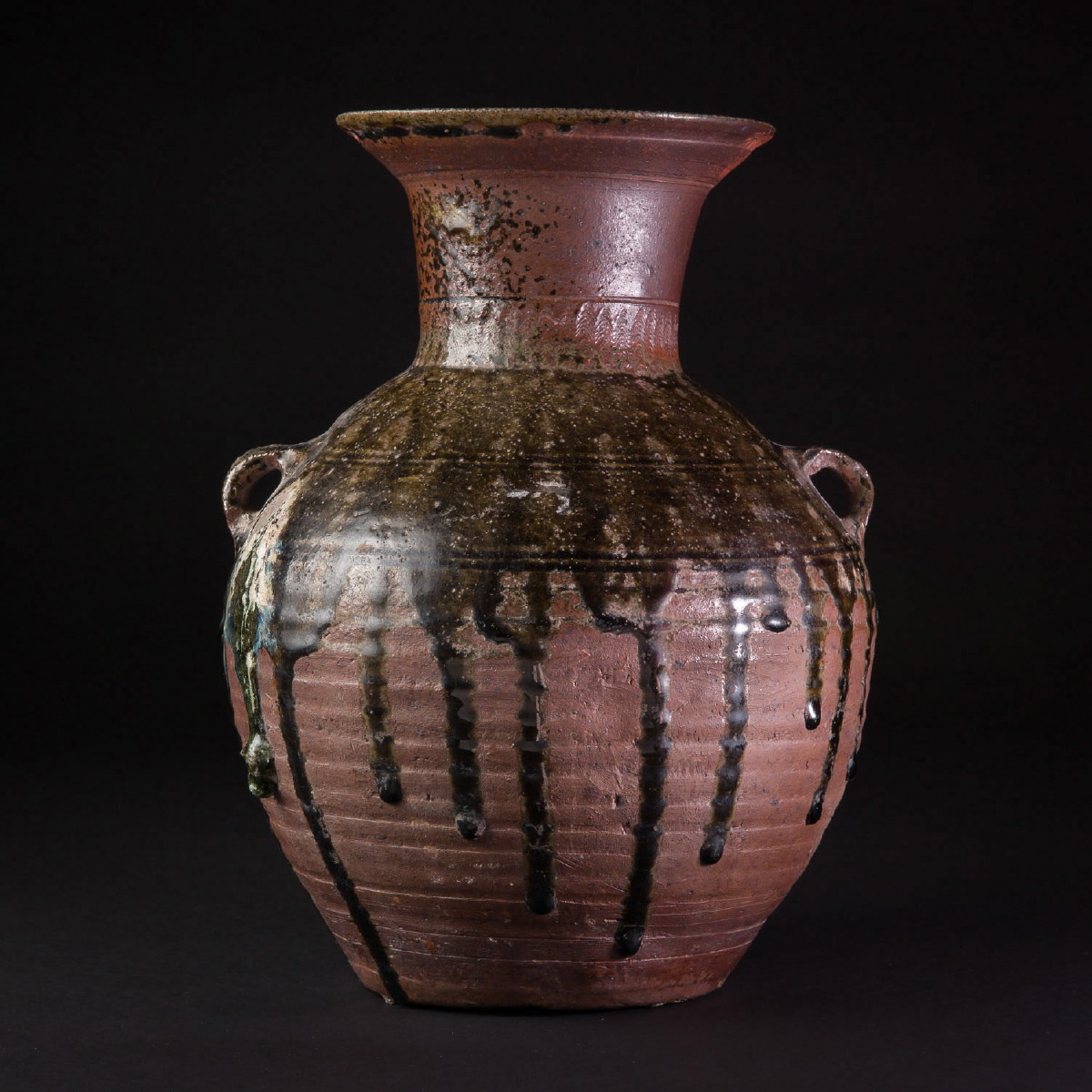 Photo of HANDSOME VASE WITH GREEN GLAZE