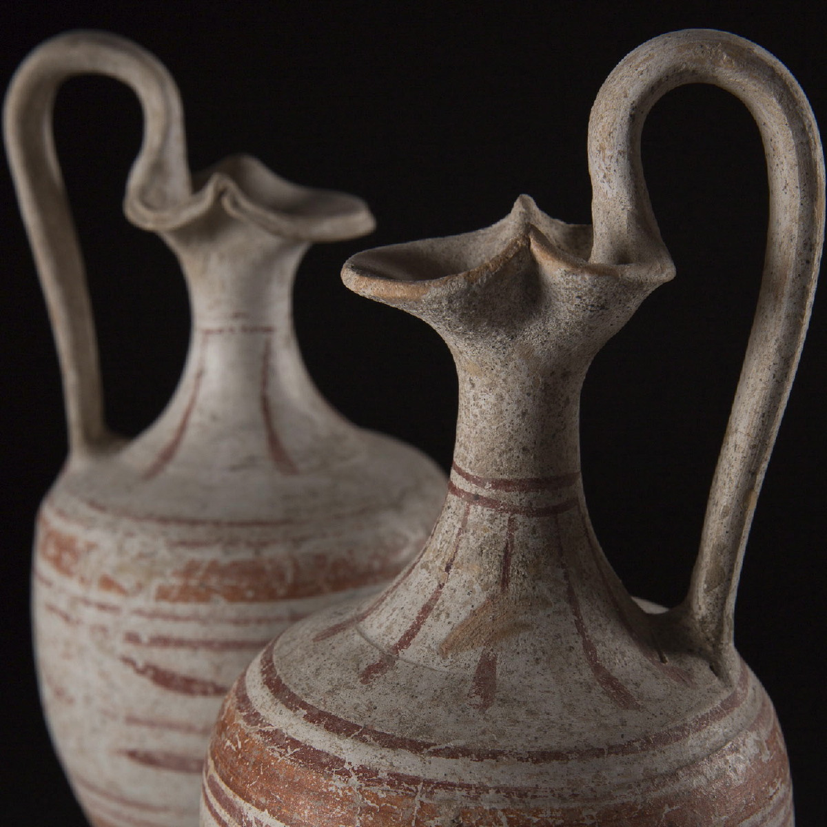 Photo of PAIR OF CANOSAN TREFOIL MOUTH VASES