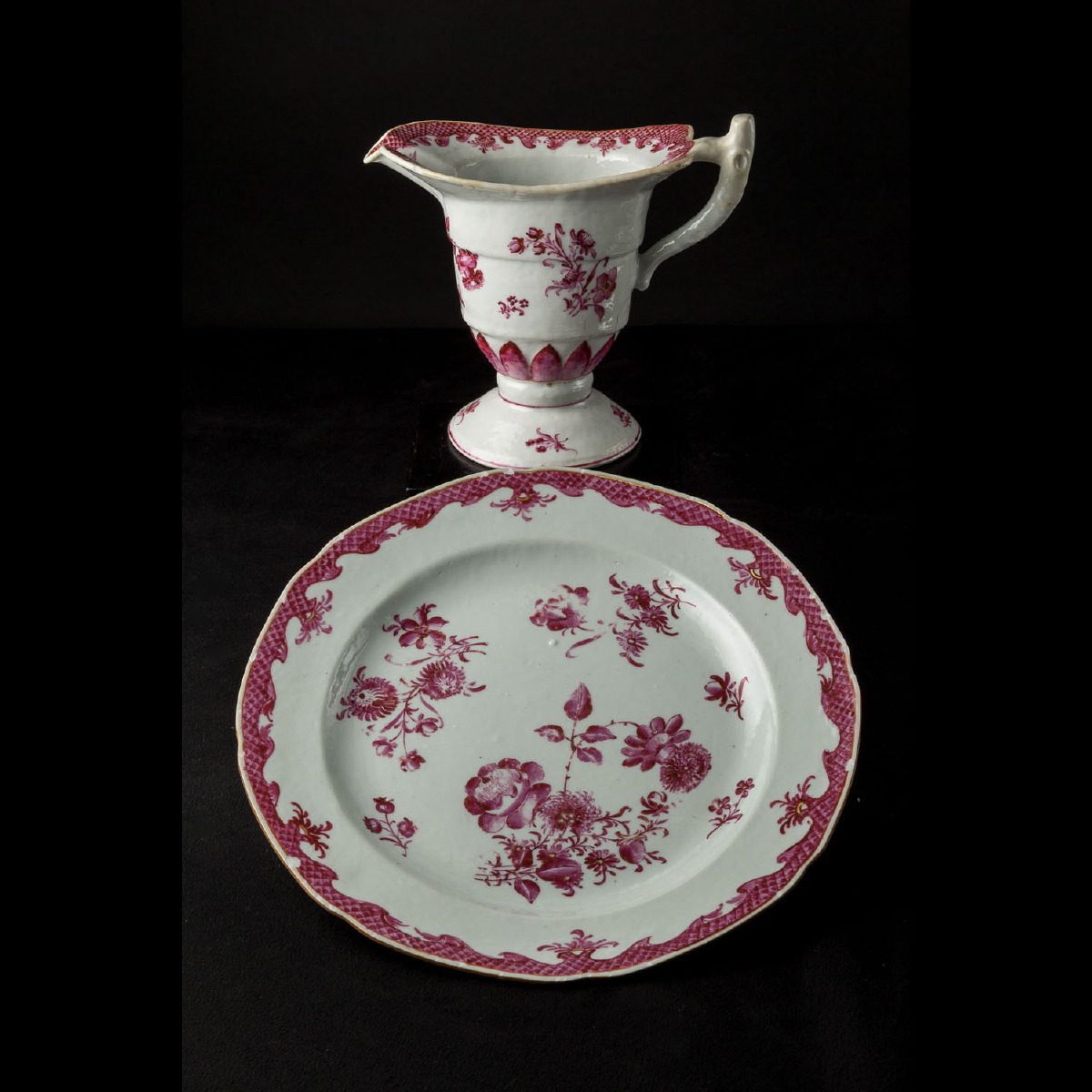 Photo ofPORCELAIN PITCHER AND PLATE