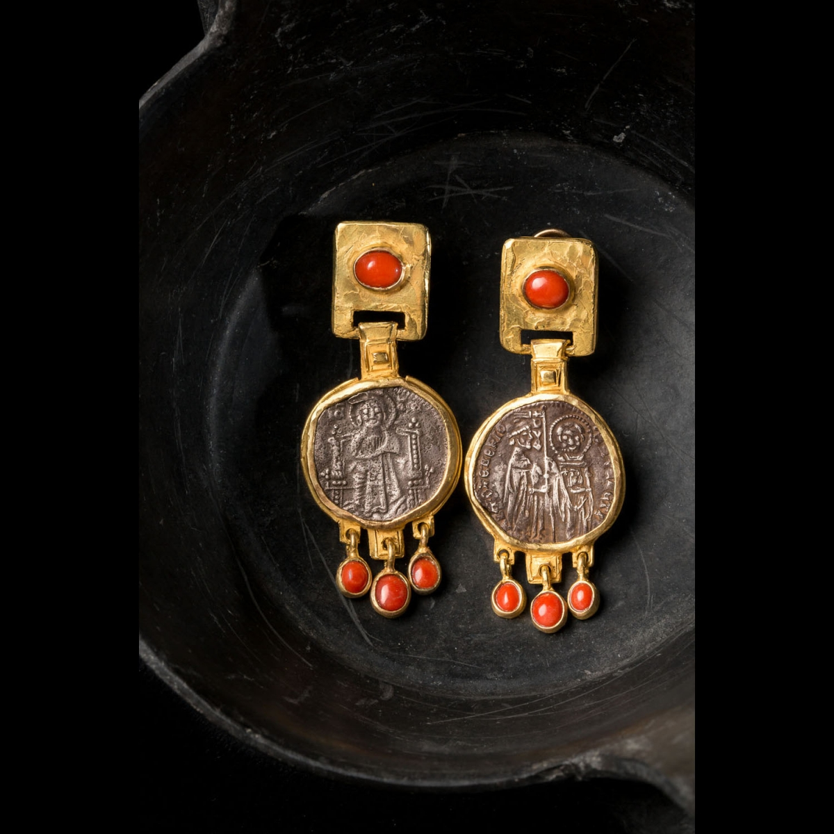 Photo of EARRINGS WITH BYZANTINE COINS