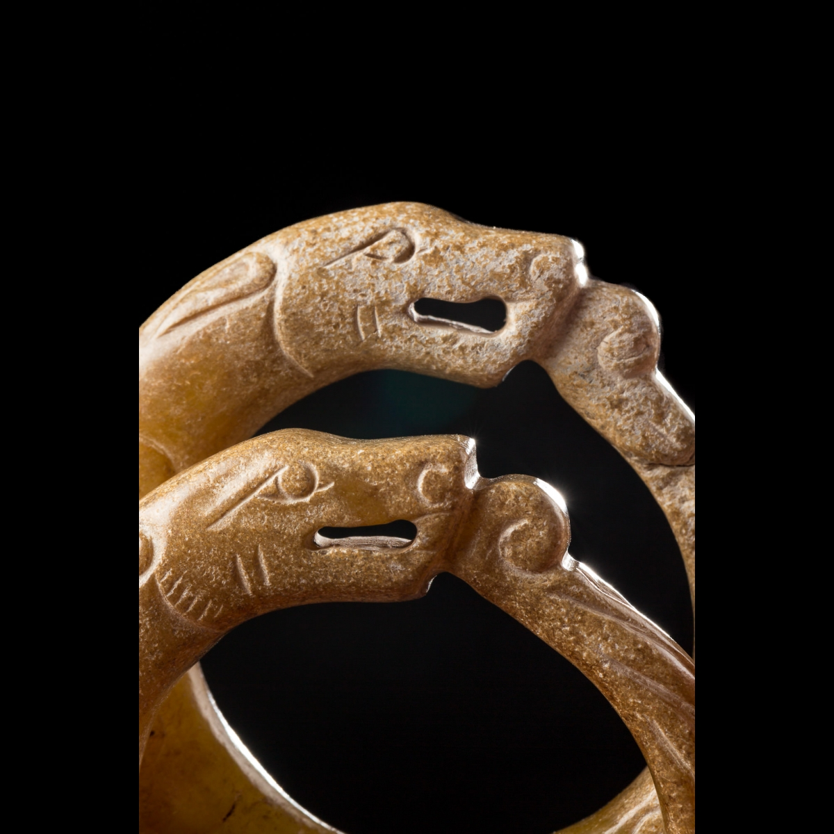 Photo of FOUR JADE DRAGONS FROM NEOLITHIC CHINESE