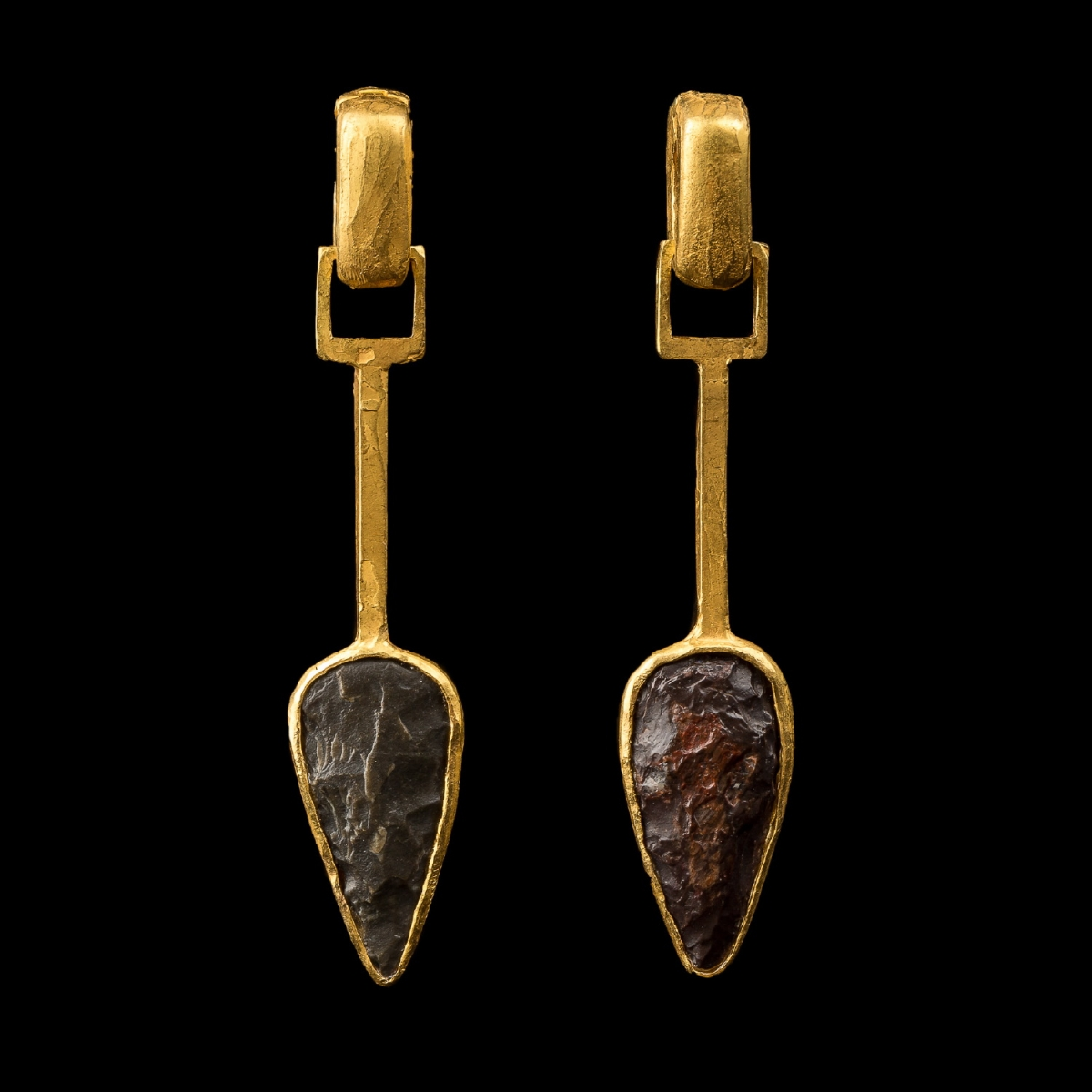 Photo of NEOLITHIC ARROWHEAD EARRINGS