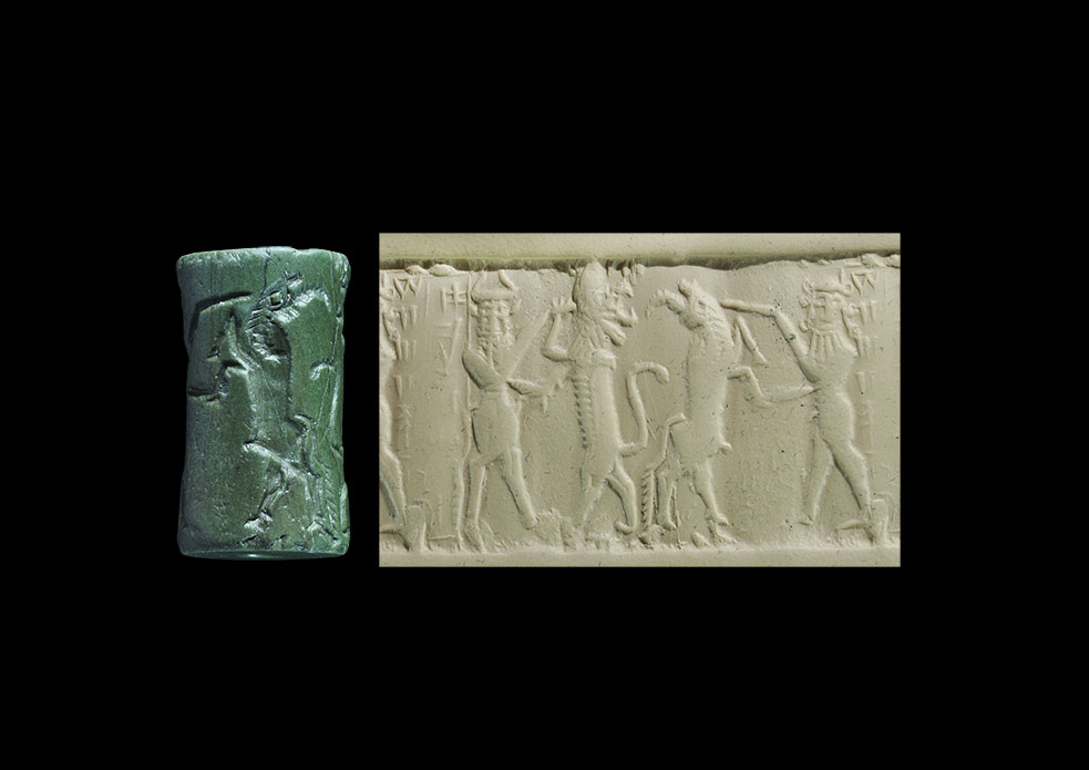 Photo ofCYLINDER SEAL REPRESENTING GILGAMESH