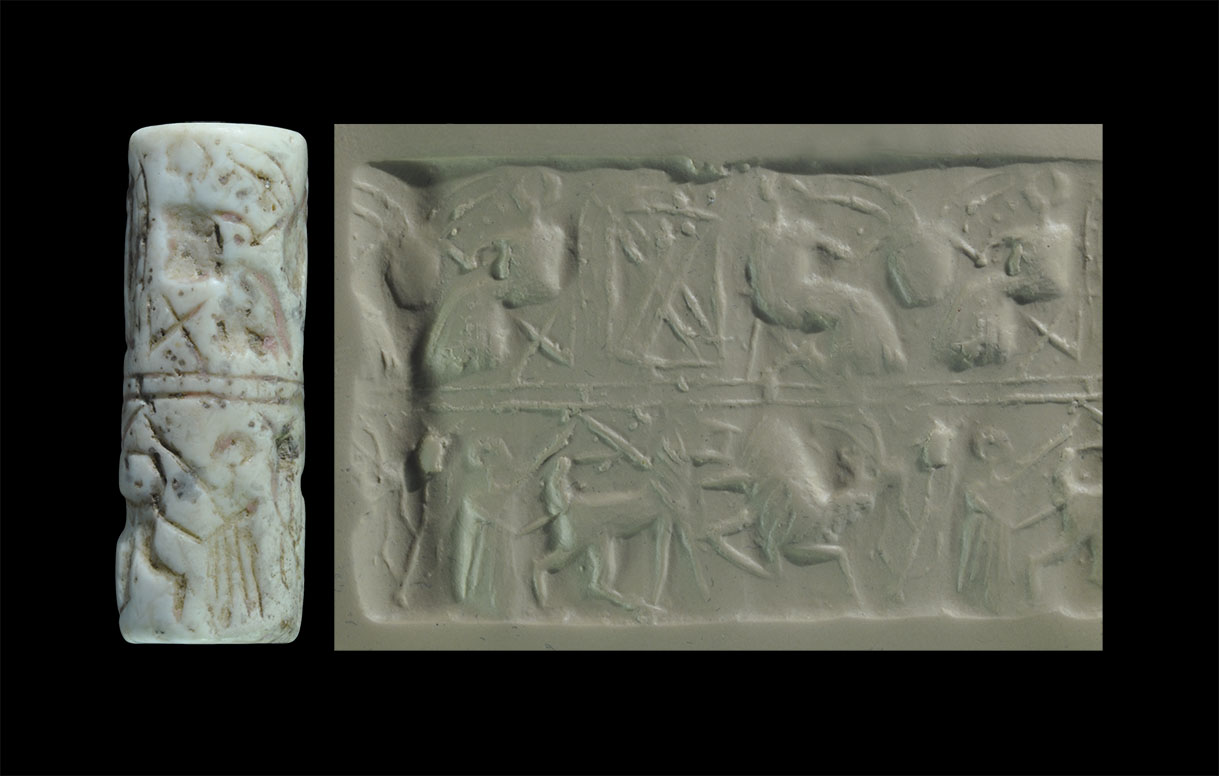 Photo of CYLINDER SEAL SUMMER AKKADIAN PERIOD