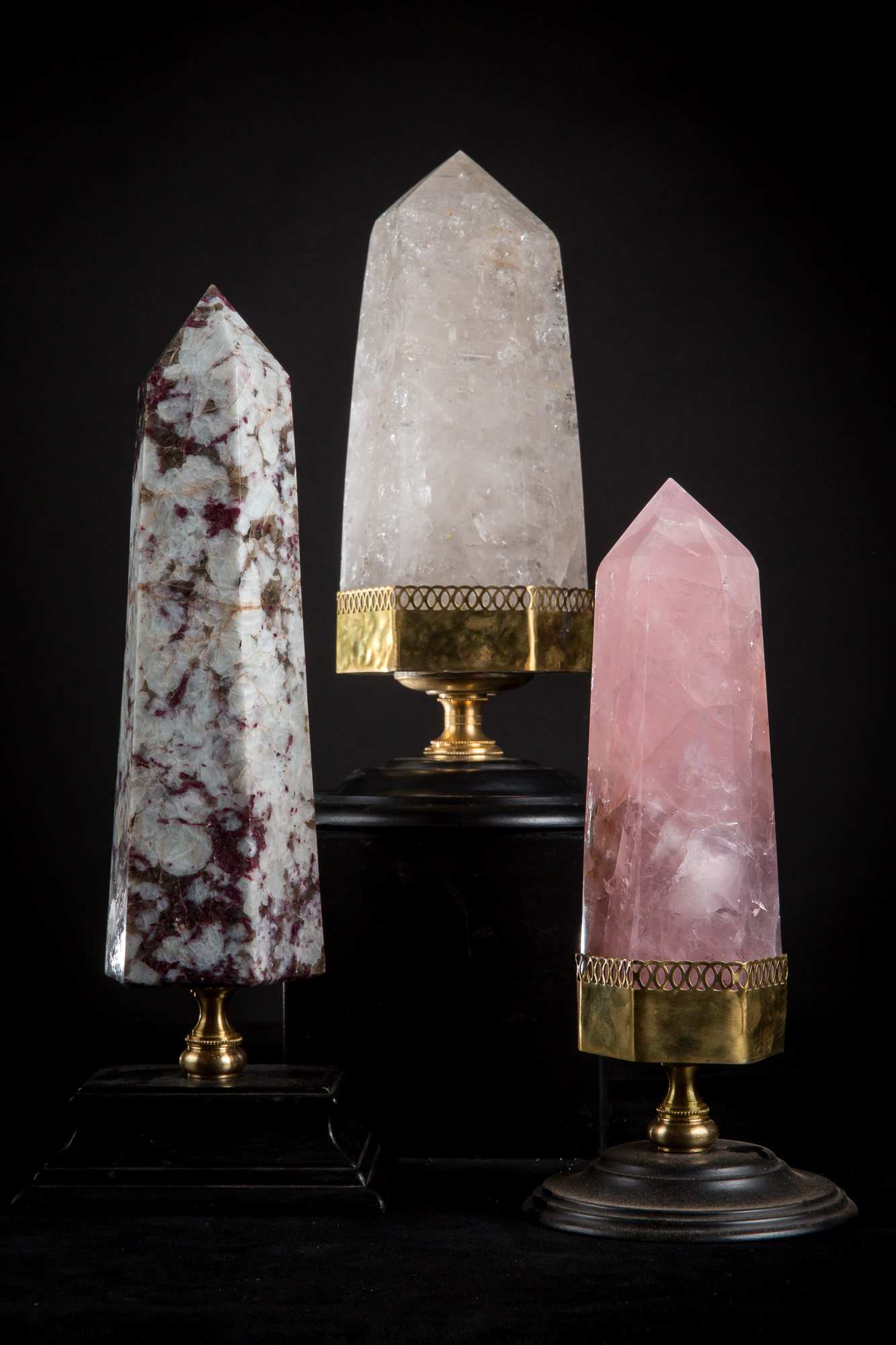Photo of CRYSTAL OBELISK OF PINK COLOUR