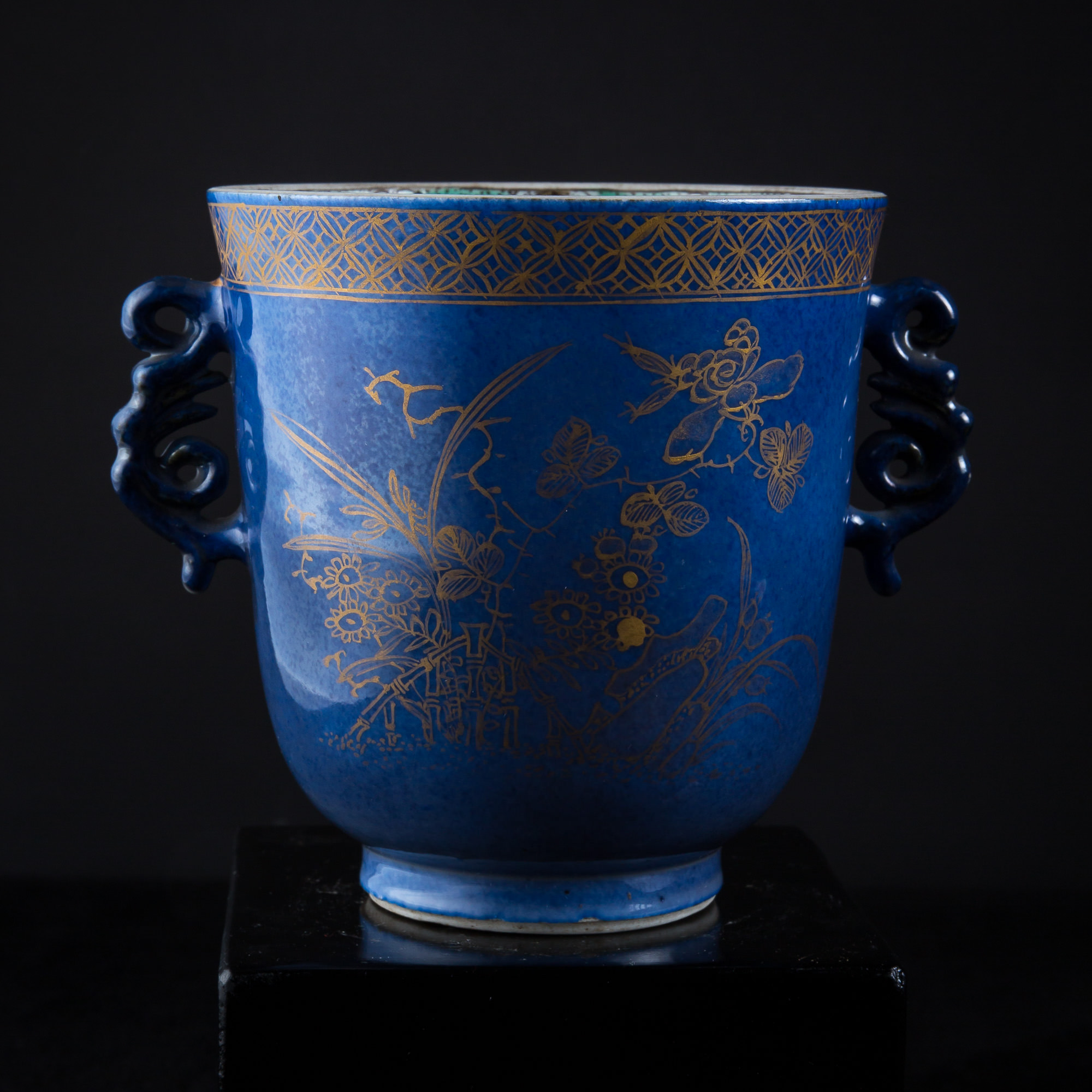 Photo ofKANGZI BLUE AND GOLD CHALICE FROM METROPLITAN MUSEUM
