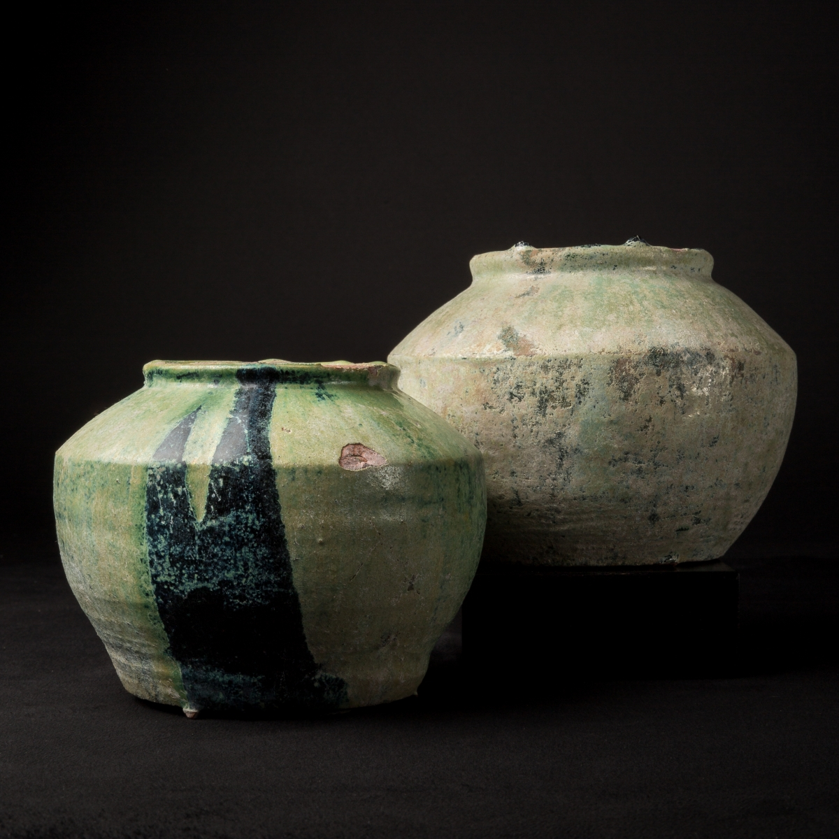 Photo ofTOMB JAR WITH GREEN GLAZE