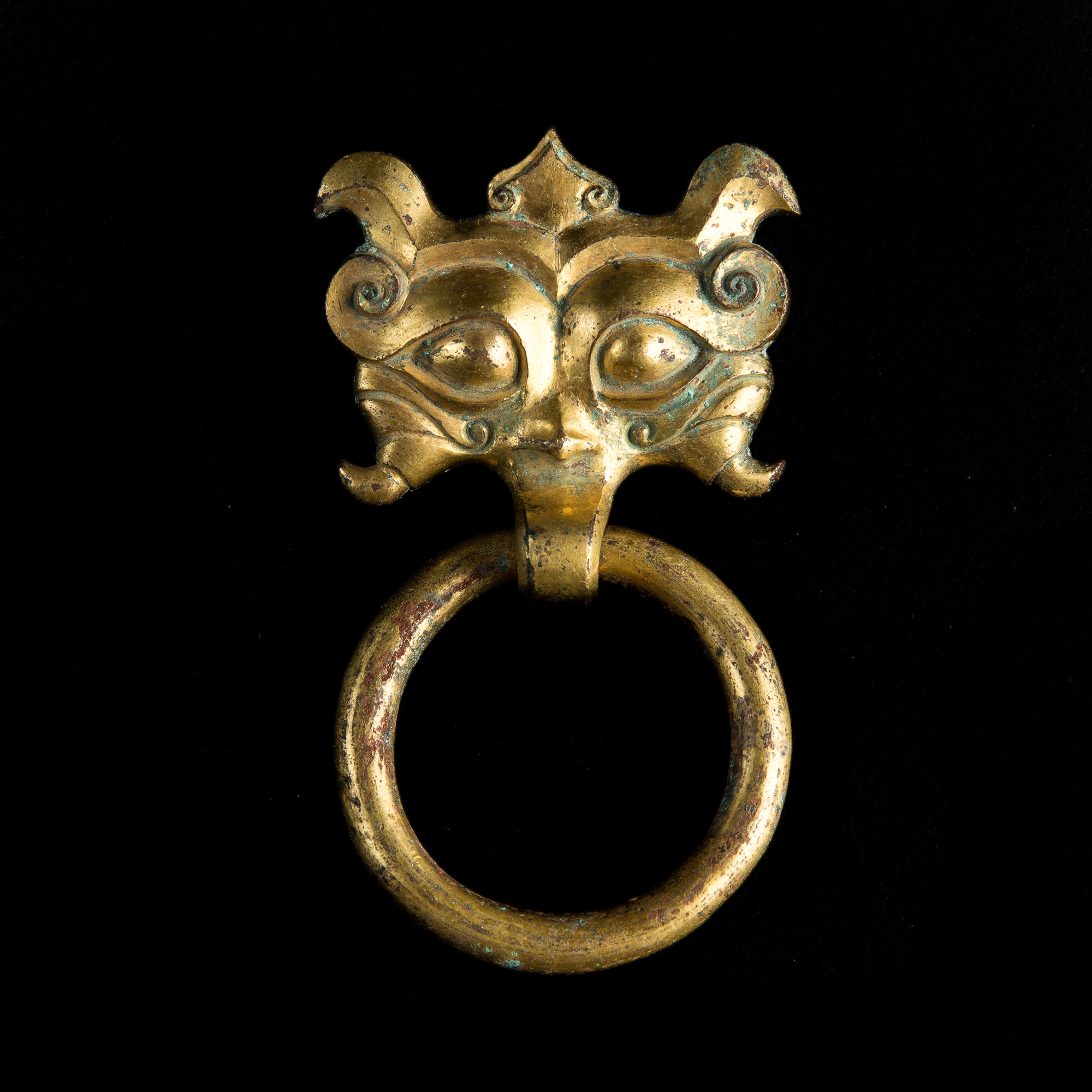Photo of GILDED BRONZE TAOTIE HAN PERIOD