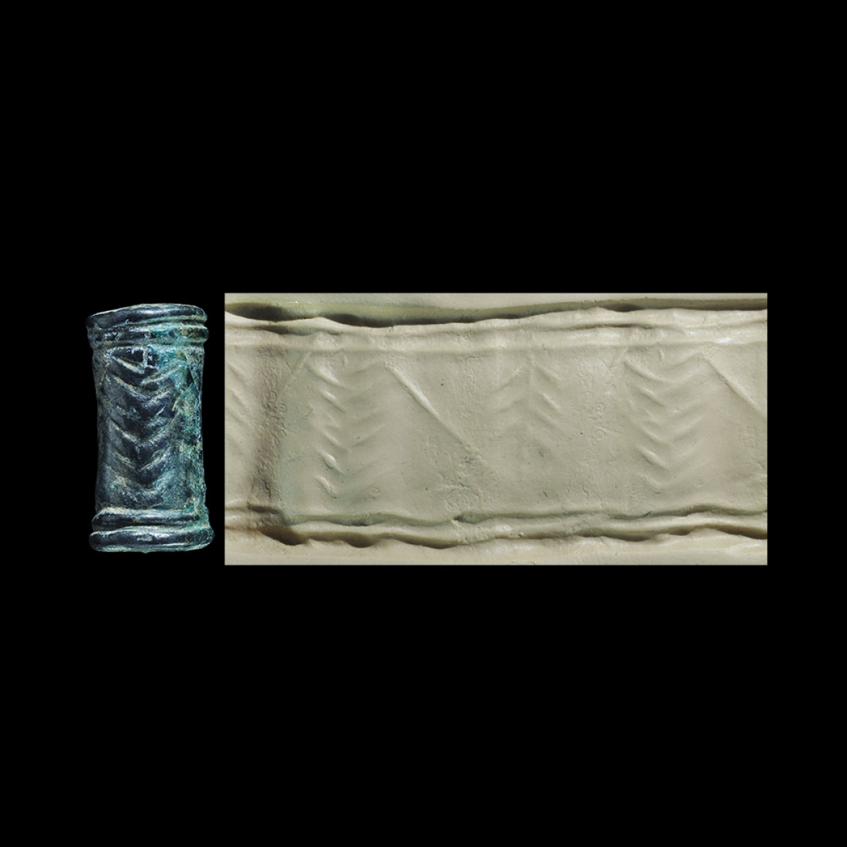 Photo of CYLINDER SEAL REPRESENTING TREES