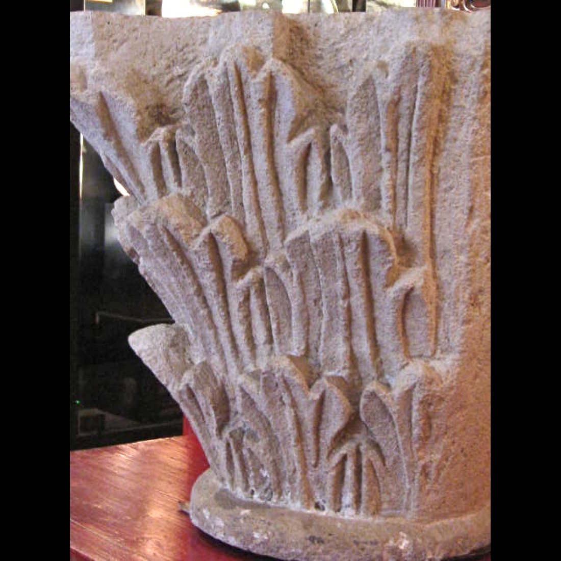 Photo of LIMESTONE CORINTHIAN ORDER COLUMN CAPITAL