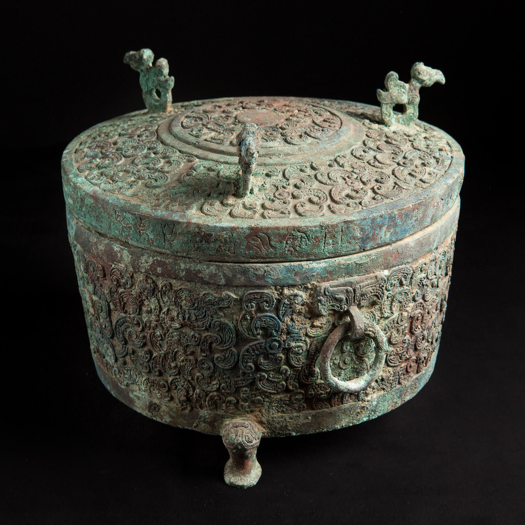 Photo of RARE BRONZE DING WITH LID