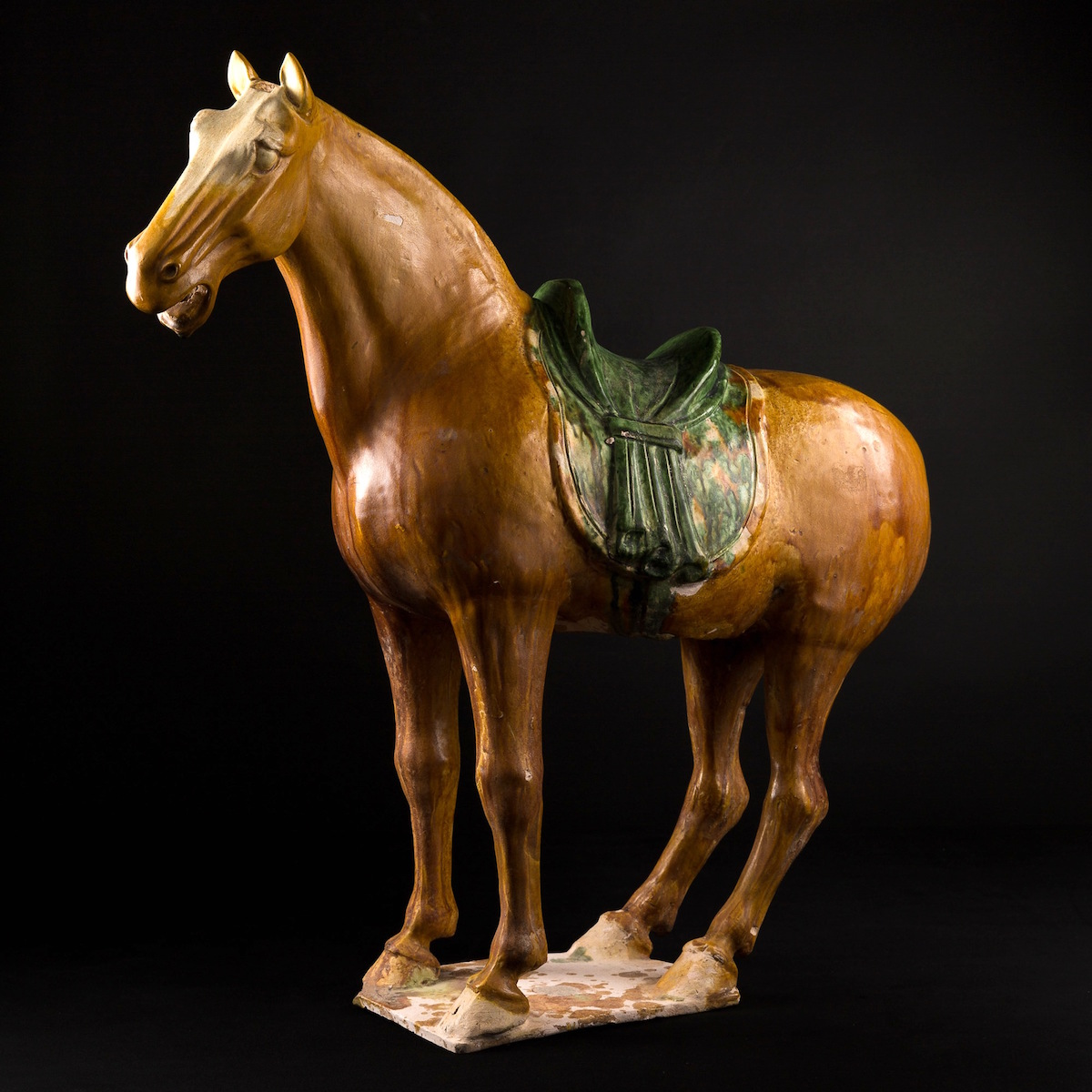 Photo of TANG SANCAÏ GLAZED HORSE